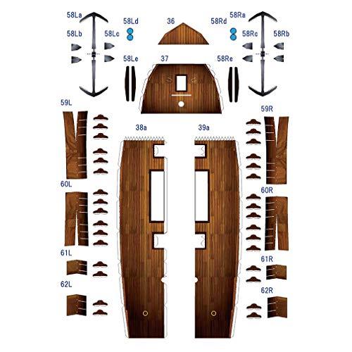 bansd Piratenschiff Form Schwarz Perlmutt Papier Modell Exquisite handgemachte DIY Modell Schwarz