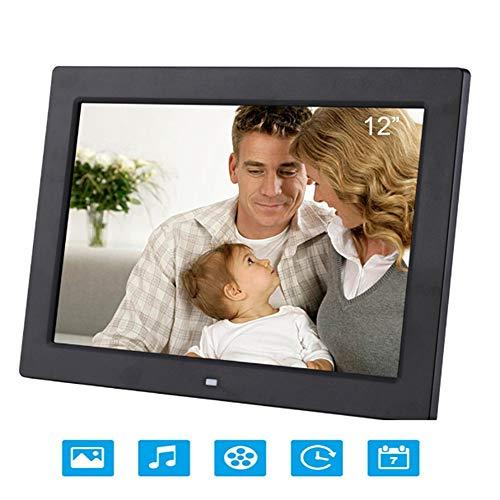 Mengen88 12-inch digitale fotolijst, 16 MB hoge resolutie ultra-dunne smalle afstandsbediening elektronische fotolijst met luidspreker geschikt voor beeldmuziek video