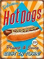 Hot Dogs 金属板ブリキ看板警告サイン注意サイン表示パネル情報サイン金属安全サイン
