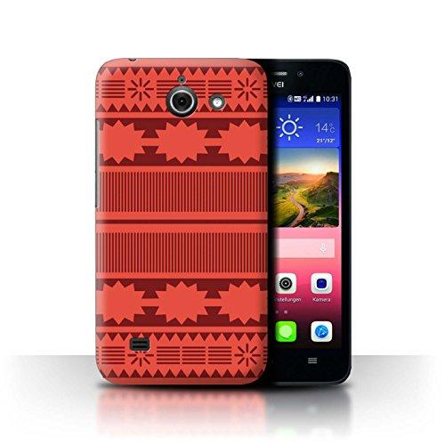 Stuff4 Hülle/Case für Huawei Ascend Y550 LTE/Aztek/Prinzessin Kleid Muster/Karikatur Polynesische Prinzessin Kollektion