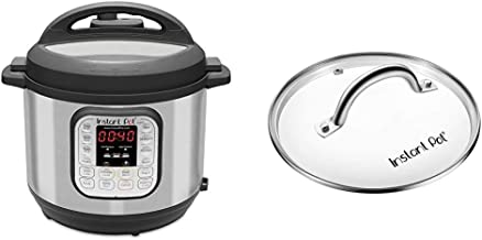 Instant Pot IP-DUO60 7-in-1 Multi-Functional Pressure Cooker, 6Qt/1000W with Instant Pot Tempered Glass Lid