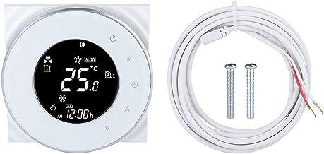 Wi-Fi Termostato Inteligente con Pantalla Táctil LCD Temporizador Programable Controlador de Temperatura para Calentamient...