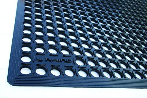 us biss RANZV Rhino Mats DX-3636 Rhino Drain-X Diamond Drain-Thru Anti-Fatigue Interlocking Mat 36 x 36 36 x 36 Ranco Industries Inc