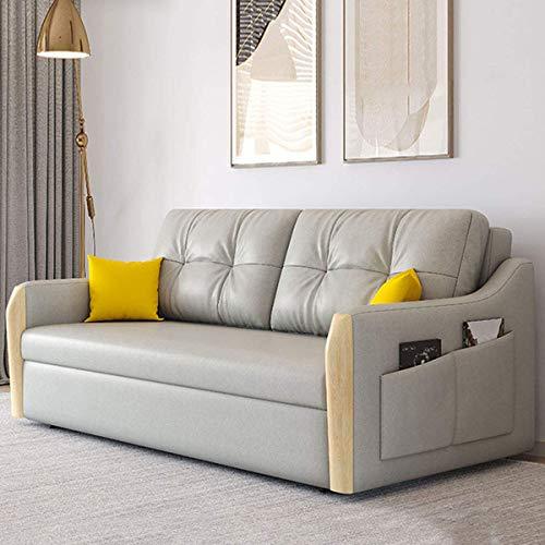 Equipamiento para el hogar Sala de estar Loveseat Sleeper Sofá extraíble Sofá cama plegable de tela Futón de almacenamiento multifuncional Sofá de diseño ergonómico Cama convertible Muebles para sa