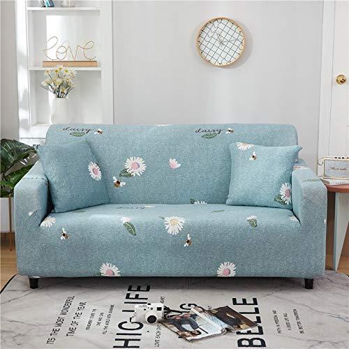 WXQY Funda de sofá Floral de poliéster, Funda de sofá retráctil para Sala de Estar, Funda de sofá elástica para Silla, Funda de sofá, Toalla, Funda de sofá A12 2 plazas