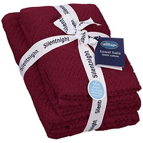 Silentnight Chevron Wafel Handdoek Bale 4 Pack | Super Soft