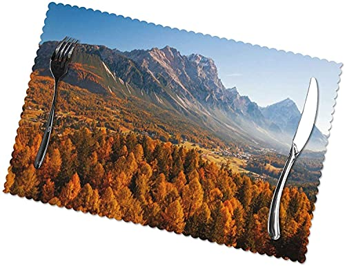 Impresión De Otoño para Tapetes De Mesa De Comedor Fácil De Limpiar Se Puede Limpiar Tapetes De Cocina Resistentes Al Calor para La Decoración del Hogar De Mesa