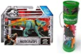 Jurassic World Protoceratops Attack Pack and Best Brands 12 Assorted Dinosaurs Figurines in Tube Bundle (Total 2 Items)