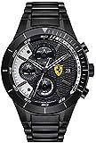 Scuderia Ferrari Orologi Hombre-Reloj Red Rev EVO analógico de Cuarzo Chapado en Acero Inoxidable 0830267