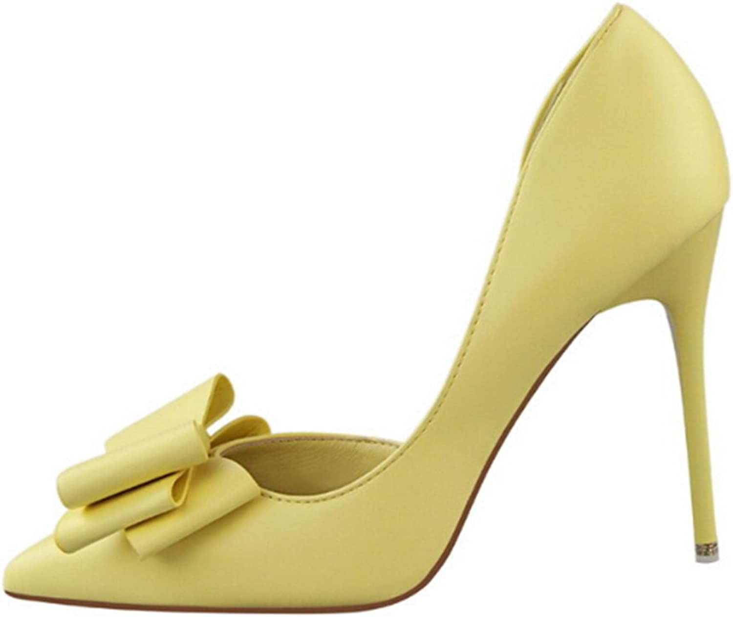 Starlit Women Sweet Bowknot High Heels shoes Pointed-Toe Stiletto Pumps