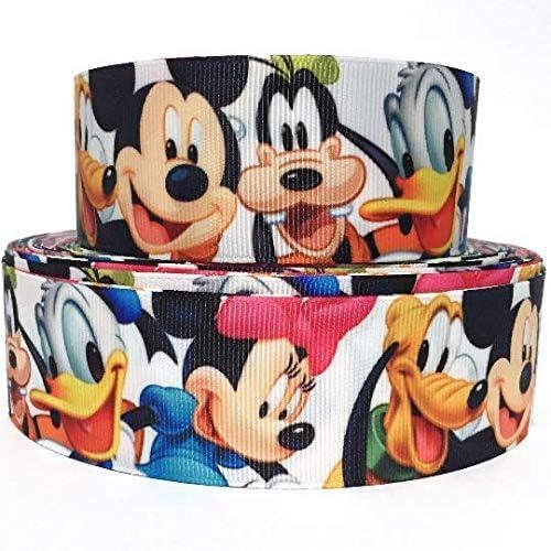 78 Mickey and Minnie Christmas Grosgrain Ribbon by the Yard  SHF