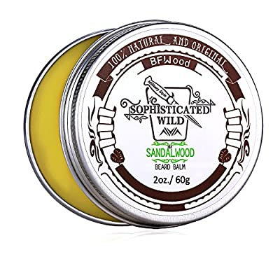 BFWood Sandalwood Scent Beard Balm for Men 60g – Tame, Moisturize, Condition Your Beard by BFWood