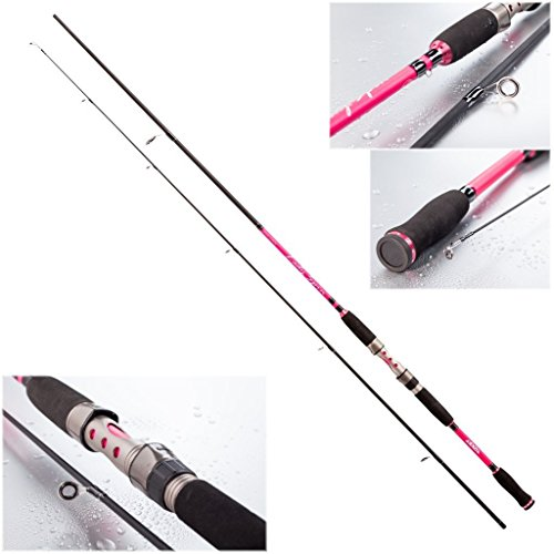 Jenzi Lady Spin - Caña de pescar tipo spinning, 8-25 g, color...