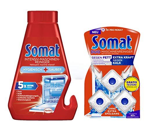 Somat Reinigungs-Set für Spülmaschinen Intensiv-Maschinenreiniger & Duo Maschinenreiniger Tabs