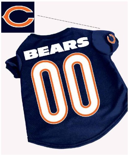 Officially Licensed by the NFL - Chicago Bears Dog Football Jersey - Medium