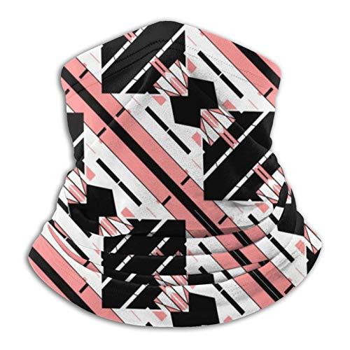 Braga para el cuello, diseño mediterráneo, color rosa, negro, blanco, estilo baldosa, bandana para cuello, calentador de cabeza, pasamontañas para motocicleta, ciclismo, montar a caballo, correr