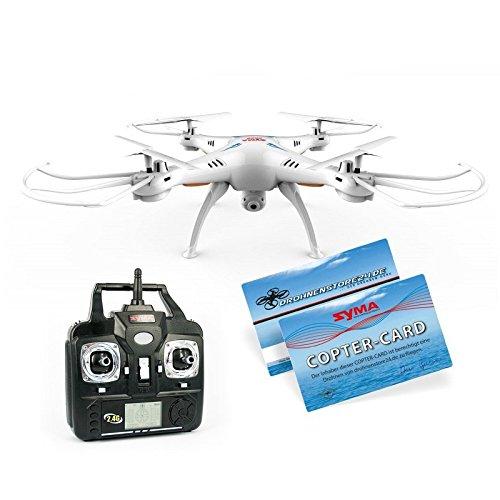 SYMA X5SC Quadrocopter Explorers 2 Drohne mit Ersatzakku Copter Card Weiß 2,4Ghz mit HD Kamera 3D