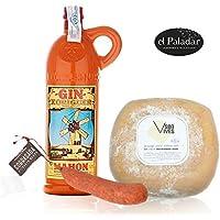 Pack Gin Xoriguer Canet 70 cl. Queso Mahón Son Vives Semi Curado y Sobrasada de Menorca Etiqueta Negra El Paladar