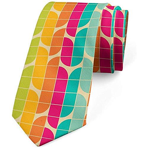 Krawatte, bunte quadratische Fliesen Bauhaus, Abendgarderobe, Mehrfarben