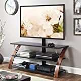 Whalen Payton Brown Cherry 3-in-1 Flat Panel TV Stand for TVs up to 65'