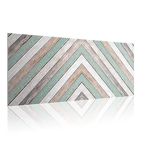 Cabecero para Cama de 90 cm, Imitación Madera, PVC Estampado, 95 x 60 x 0.5 cm, CAB-003