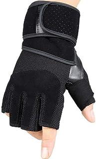 HAOSHUAI Handschoenen Fitness Outdoor Mountaineering Riding Half Finger Handschoenen Ridding handschoenen (Kleur : Zwart, Maat : M)