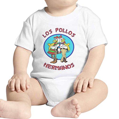 Body bébé Fashion Los Pollos Hermanos Breaking Bad – Blanc - Blanc - 6-9 mois