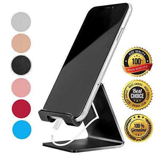 Desk Cell Phone Stand Phone Dock Cradle Holder Stand Compatible with Switch, All Android Smartphone, for iPhone 11 Pro Xs Xs Max Xr X 8 7 6 6s Plus 5 5s 5c Charging, Accessories Desk (Black)