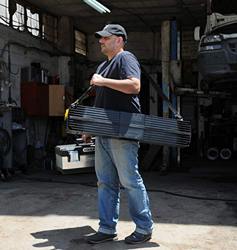 Stanley klappbares Unterstellbock Paar aus Metall 1-97-475 / Mit Kunststoffauflage & rutschfesten Gummifüßen / bis 340 kg Tragkraft / 101,7 x 12,5 x 75,8 cm - 5