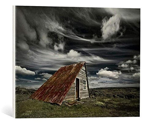 kunst für alle Canvas Print: Þorsteinn H. Ingibergsson Weathered Fine Art Print, Canvas on Stretcher, Ready to Hang Wall Picture, 21.7x15.7 inch / 55x40 cm
