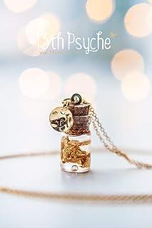 collana in vetro foglia oro, gioielli stampati a mano, collana delicata, collana personalizzata personalizzata, collana mo...