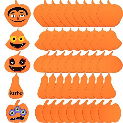 30 Piezas Decoraciones de Calabaza de Espuma de Halloween Kits de Artesanía de Calabaza de Espuma DIY Formas Variadas de Calabaza para Manualidades Infantiles Decoración de Halloween (5 Estilos)