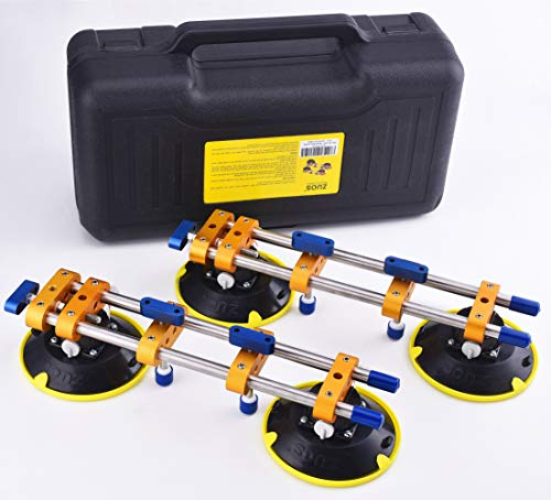 "ZUOS A Pairs of Seamless seam Setter with 6"" Suction Cups for Seam Joining & Leveling/Professional Countertop, granite, Stone, Marble Slab Installation. (double pole 2 PCS) (2 pcs)"