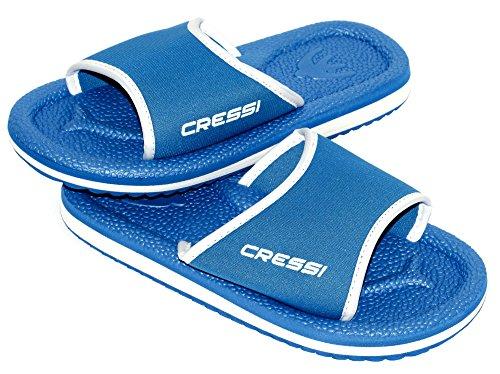 Cressi Lipari Sandals, Ciabatta per Spiaggia e Piscina Unisex, Azzurro/Bianco, 35