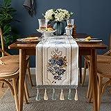 NHhuai Cubierta de Mesa de Simples Adecuado para la decoración de cocinas caseras, Varios tamaños Borla de Camino de Mesa de Flores