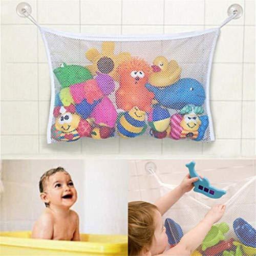Badspeelgoed opbergen badspeelgoed net met 2 ultra sterke zuignappen met capuchon, grote badkamer speelgoed net voor badkuip speelgoed net & badkamer opslag bevestiging zonder boren