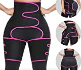Body 3-in-1 Waist and Thigh Trimmer for Women Weight Loss Butt Lifter Waist Trainer Slimming Support Belt Hip Raise Shapewear Thigh Trimmers (pink, 2XL/3XL)