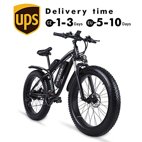 VOZCVOX Electric Bikes for Adult, 26' Ebike with Fat Tyre,48V17Ah Removable Battery,Electric Mountain Bikes with Shimano 21-Speed