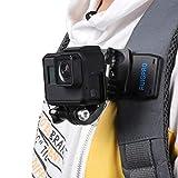 RUIGPRO - Kit de soporte de cámara de acción giratoria de 360 grados, resistente al agua, soporte de clip para mochila y videocámara, compatible con GoPro Sony DJI OSMO Action Akaso SPOR