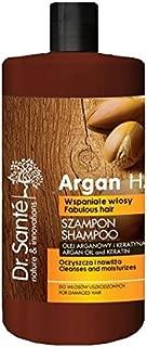 Champú para cabello natural con aceite de argán y queratina (keratina) - Cabello dañado sin sulfatos ni parabenos Dr.