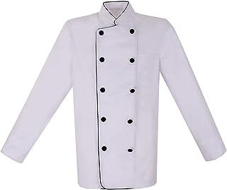 MISEMIYA Giacche Cuoco Chef Giacche Uomo Fantasia Signore con Bottone RIFORMATO Ref.8421B