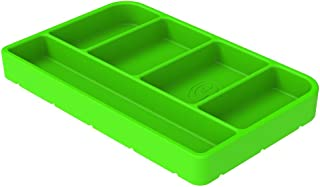 S&B Non-Slip Flexible Silicone Tool Tray | Tool Mat | Tool Organizer | Tool Holder (Small, Lime Green, 80-1000S)