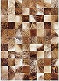 Vip Leather Nueva Alfombra de Piel de Vaca Patchwork. Diseno Exclusivo. Codigo Ar160 (120 cm x 180 cm)