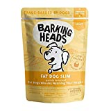 Barking Heads Low-Calorie Wet Dog Food - Fat Dog Slim - 85% Natural, Free-Run Chicken with No Artificial Flavours, Grain-Free Recipe with Reduced Fat (10 x 300 g)