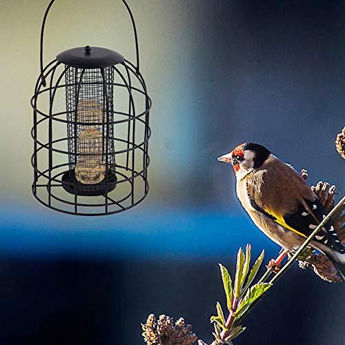 LovePlz Hanging Pet Bird Food Feeder Container Garden Tree Park Outdoor Feeding Tool Pet Bird Accessoires Noir