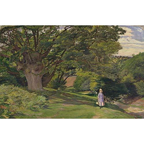 Puzzle Großer Baum Mit Kleinen Mädchen William Hayes Malerei Erwachsenen Kinder Lernspielzeug Geschenk 500-6000 Stück 0319 (Size : 5000 Pieces)