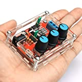 Onyehn XR2206 High Precision Function Signal Generator DIY Kit Sine/Triangle/Square Output 1Hz-1MHz Adjustable Frequency Amplitude + Transparent Case Box Shell
