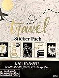 Elegant Blooms & Things Travel Sticker Book, 235 pcs, Black, Gold Foil, White, Journals, Albums,...