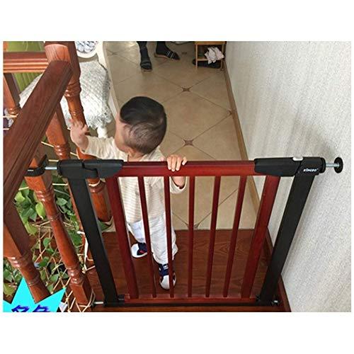 LNDDP Barras de Seguridad telescópicas para Mascotas Bar Barreras para escaleras Barandilla Protector de Pared Valla Madera Maciza Perforación Libre Cierre automático