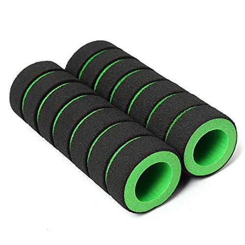 STAMONY Lenkerband fahrradgriffe 1 Paar Mountainbike Lenker Abdeckung Sponge Radfahren Anti-Schock-Skid-Proof MTB-Lenker Grips Sponge Fahrradgriffe (Color : Green)